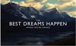 Dreams when you are awake