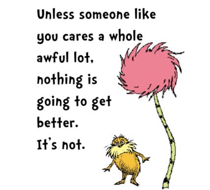 Dr Seuss - someone cares