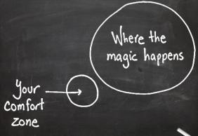 comfort-zone where the magic happens